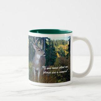 Protect our wildlifeMount Rainier Nat... Two-Tone Mug