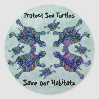 Protect Sea Turtle Habitats Stickers