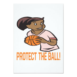 Protect The Ball 13 Cm X 18 Cm Invitation Card