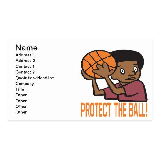Protect The Ball Business Cards