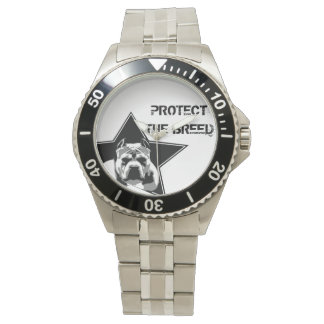 Protect The Breed Pit Bull Watch - Stainless Steel