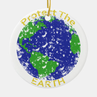 Protect the Earth Christmas Ornament