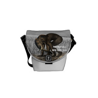 Protect The Elephants Messenger Bags