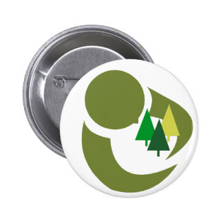 Protect The Trees 6 Cm Round Badge
