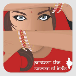 Protect the Women of India Stickers