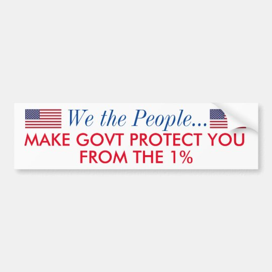 protect us from the 1% bumper sticker