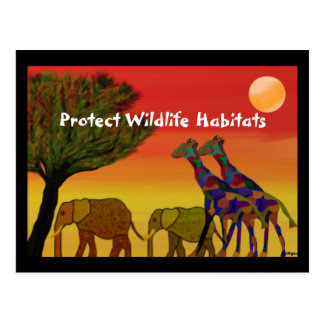 Protect Wildlife Habitats Postcard