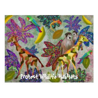 Protect Wildlife Habitats Postcards