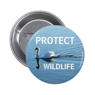 Protect Wildlife No. 3 | 6 Cm Round Badge