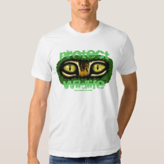 Protect wildlife tiger eyes graphic art t-shirt