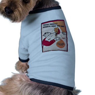 Protect Yourself Mosquito Proof Your Home Ringer Dog Shirt