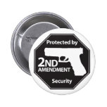 Protected by 2nd Amendment 6 Cm Round Badge