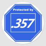 Protected by 357 classic round sticker