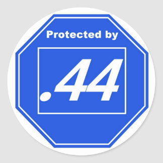 Protected by .44 classic round sticker