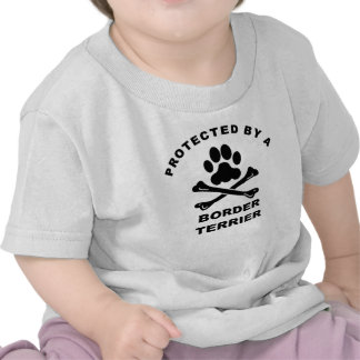 Protected By A Border Terrier Shirts