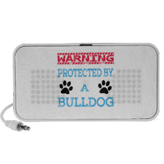 Protected By A Bulldog Portable Speaker