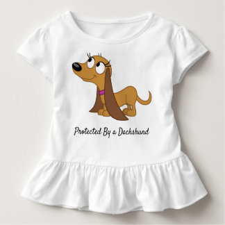 Protected By a Dachshund Toddler Ruffle Shirt