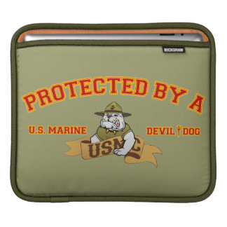 Protected By A Devil Dog iPad Sleeve