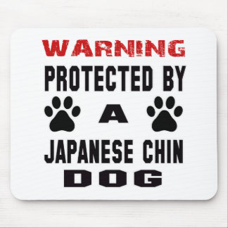 Protected By A Japanese Chin Dog Mouse Pad