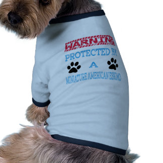 Protected By A Miniature American Eskimo Dog Ringer Dog Shirt