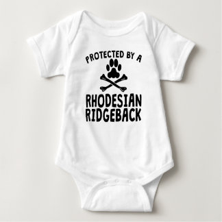 Protected By A Rhodesian Ridgeback Baby Bodysuit