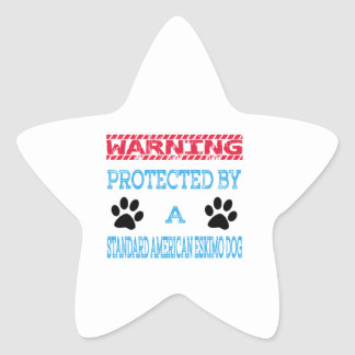 Protected By A Standard American Eskimo Dog Star Sticker