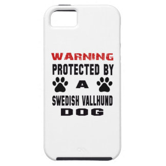Protected By A Swedish vallhund Dog iPhone 5 Case