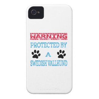 Protected By A Swedish Vallhund Dog iPhone 4 Cover