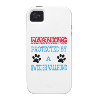 Protected By A Swedish Vallhund Dog Case-Mate iPhone 4 Cover