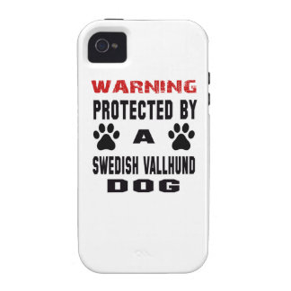 Protected By A Swedish vallhund Dog Vibe iPhone 4 Case