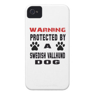 Protected By A Swedish vallhund Dog iPhone 4 Cases