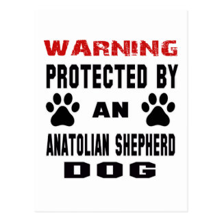Protected by An Anatolian Shepherd Dog Postcard