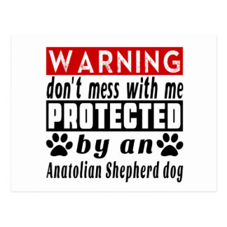 Protected By Anatolian Shepherd dog Postcard