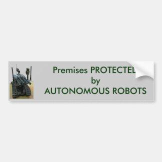 Protected by Autonomous Robots Bumper Sticker