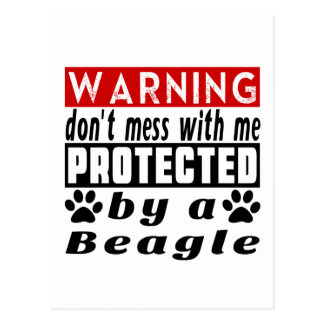 Protected By Beagle Postcard