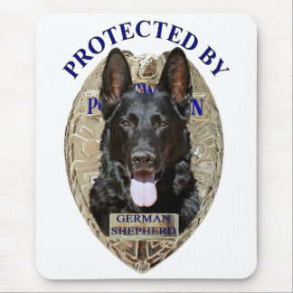 Protected By German Shepherd Mouse Mat