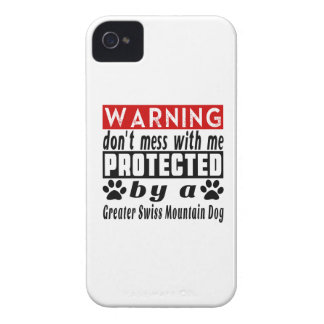 Protected By Greater Swiss Mountain Dog iPhone 4 Cases