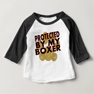 Protected By My Boxer Baby T-Shirt