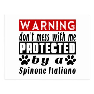 Protected By Spinone Italiano Postcard