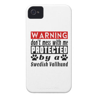 Protected By Swedish Vallhund iPhone 4 Case-Mate Case
