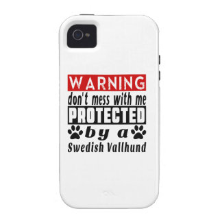 Protected By Swedish Vallhund Vibe iPhone 4 Case