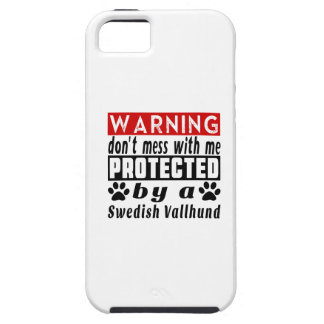 Protected By Swedish Vallhund Tough iPhone 5 Case