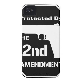 Protected By The Second Amendment (Black) iPhone 4 Case