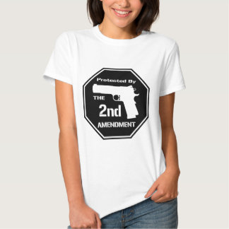 Protected By The Second Amendment (Black).png Shirt