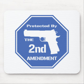 Protected By The Second Amendment (Blue).png Mouse Pad