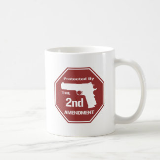 Protected By The Second Amendment (Red).png Coffee Mugs