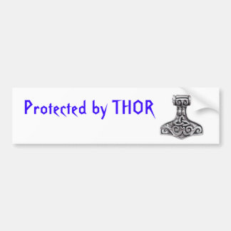 Protected by Thor Bumper Sticker