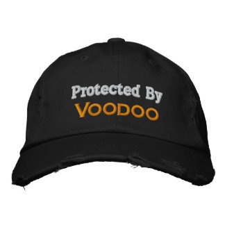 Protected By Voodoo Embroidered Cap