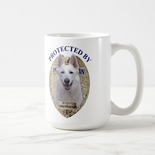 Protected By White Shepherd Coffee Mug