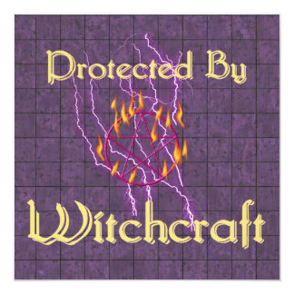 Protected By Witchcraft 13 Cm X 13 Cm Square Invitation Card